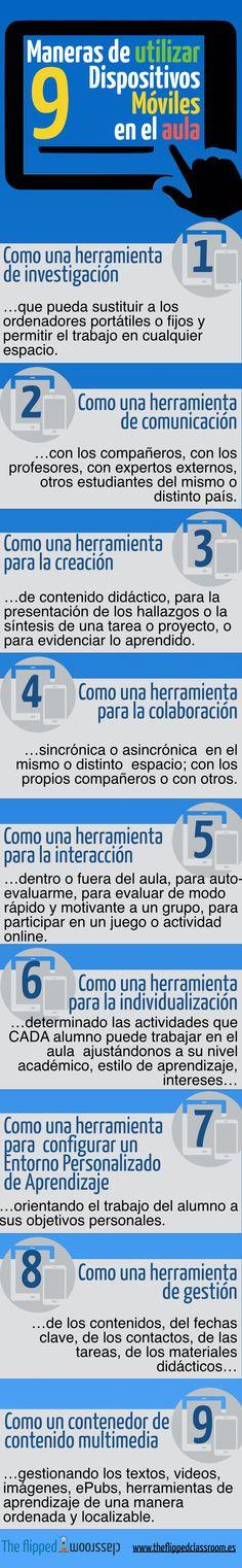 9 MANERAS DE UTILIZAR LOS MÓVILES EN EL AULA  #inclusiva_INTEF
