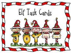 "Promote a positive classroom community with Secret Elf Pals. This post has a link to free ""elf task cards"" to get you started!"