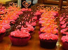 Pink cupcakes bridal shower
