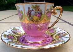 Demitasse tea cup and saucer D W Porzellan