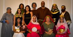"Celebrating another Book completion, ""Imitate Their Faith"" September 2016.  First Row (left to right): Pharaoh Daughter with Baby Moses, Miriam, Sarah and Queen Esther.  Second Row (left to right): Elizabeth, Asenath (Joseph Wife), Abigail, Egyptian Lady who accepted to service Jehovah, Young David,  John the Baptist, Joseph (Zaphenath-paneah) and the good King Josiah.  Want to learn about this people of faith? Visit JW.org  Photographer by: AriStyle Shots"