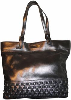 Women's Calvin Klein Purse Handbag Leather Tote Pewter « Xquisite Beauty