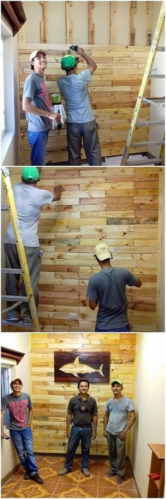 Let's bring home this outstanding wall paneling structure idea of design that would add up the value in your house beauty. Isn't it look classy? This project will be hence featuring out adding the wood pallet on top of the entire wall coverage access to add some brilliant flavors.