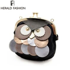 Personalized Women owl bags Chain Women Messenger Bag Small Female One Shoulder Bag Phone Holder Purse PU Leather  Bag