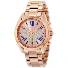 e38beed000c4 Shop for Michael Kors Women s Bradshaw Chronograph Rose-Tone Gold Dial  Rose-Tone Gold Stainless Steel Bracelet Watch. Get free delivery at  Overstock - Your ...