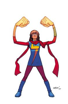 """""""All-New, All-Different Marvel"""" Ms. Marvel."""