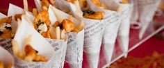 Fish and Chips ala Blumenthal at a food station   Compone Fine Catering, Northern California