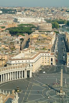 View from The Cupola of St Peter's Basilica, Rome, Italy