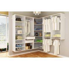 Walk In Closet Ikea, Cheap Closet, Bedroom Closet Storage, Closet Curtains, Walk In Closet Design, Simple Closet, Wardrobe Closet, Master Closet Layout, Master Bedroom Closet