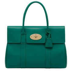 Mulberry - Bayswater in Emerald Micrograin Calf OMG i need this in my life