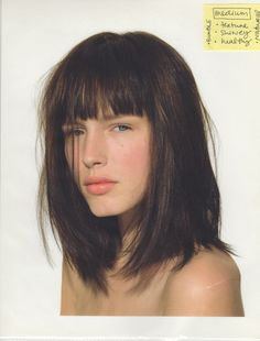 Long hair bobs with bangs - ideas 2016 | Ombre-Hair.INFO