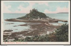 Low Tide, St Michael's Mount, Cornwall, c.1905 - Peacock Postcard