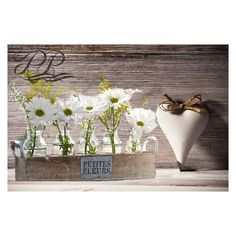 Rustic Barnwood centerpiece Reclaimed wood planter box with metal... (€97) ❤ liked on Polyvore featuring home, home decor, small item storage, metal pot, texture plates, flower plates, flower planters and flower centerpieces