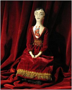 Madame Talbot's Victorian lowbrow anatomical heart mourning doll