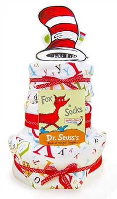 Dr. Seuss Three Tier Baby Diaper Cake - Gender Neutral