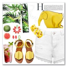"""Summer"" by nerma10 ❤ liked on Polyvore featuring Loewe, Boohoo, Miss Selfridge, Luckies, TRACEY NEULS, Mixit and Disney"