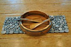 Natural-Looking DIY Rock Doormat | Shelterness