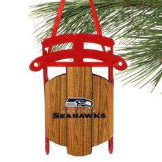 Seattle Seahawks Sled Ornament