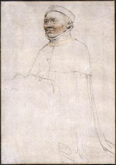 Duc Jean de Berry 1522 Chalk drawing by Hans Holbein the Younger