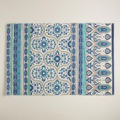 One of my favorite discoveries at WorldMarket.com: 2'x3' Blue Floral Reversible Indoor-Outdoor Rug