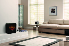 Our Cube is an eye-catching fire that will liven up any room with its clean lines and rounded edges. Showcase the Optiflame log effect in this electric heater. Electric Fires, She Sheds, Cube, Catching Fire, Clean Lines, Room, Design, Home Decor, Bedroom