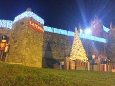 Castelo de Santa Maria da feira iluminado pronto para o perlim!!