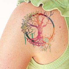 tatuajes árbol de la vida acuarela