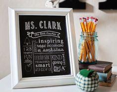 Printable teacher | Etsy