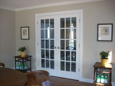 Sherwin Williams, AMAZING GRAY. It's a greige - or gray with a warm undertone/beige with a gray undertone.