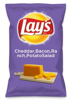 Wouldn't Cheddar,Bacon,Ranch,PotatoSalad be yummy as a chip? Lay's Do Us A Flavor is back, and the search is on for the yummiest flavor idea. Create a flavor, choose a chip and you could win $1 million! https://www.dousaflavor.com See Rules.