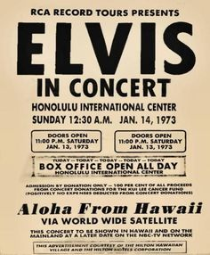 ELVIS ALOHA FROM HAW