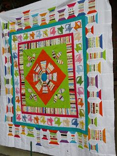 The Cozy Quilter: My Liberated Medallion Quilt is Done!