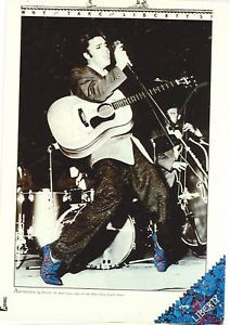 ELVIS PRESLEY STAGE W/BLUE SUEDE SHOES