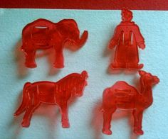 1950 's  Vintage Red Circus Cookie Cutters