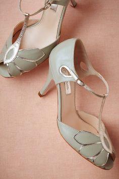 Robins egg blue vintage t-bar wedding shoes. #vintage #wedding #shoes #bride #low #heels