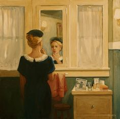 (via Sally Storch - DIALOGUES)Sally Storch Sunday Moring, As Things Are Oil on canvas, 2012 27 x 27""