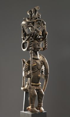 Ikenga (2010-129) | Princeton University Art Museum   Igbo artist Place made: Nigeria Ikenga, first half of the 20th century Wood and polychrome h. 116.0 cm., w. 30.0 cm., d. 30.0 cm. (45 11/16 x 11 13/16 x 11 13/16 in.) Museum purchase, Fowler McCormick, Class of 1921, Fund 2010-129