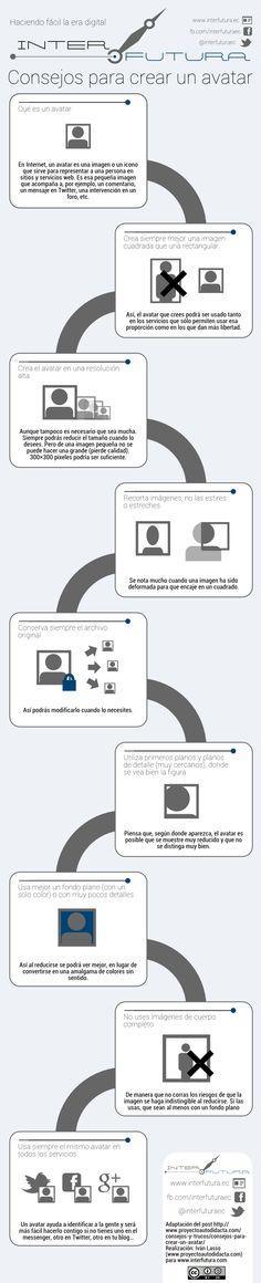 Consejos para crear un avatar #infografia #design #SocialMedia