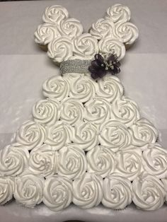 wedding dress cupcakes in 2019 bridal shower cupcakes Wedding Dress Cupcake Cake Trending 2020 Wedding Shower Cupcakes, Wedding Dress Cupcakes, Bridal Shower Party, Bridal Shower Decorations, Bride Cupcakes, Bridal Shower Dresses, Engagement Party Cupcakes, Wedding Cakes, Bridal Showers