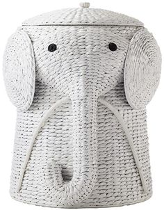 Home Decorators Collection Animal 16 in. W Laundry Hamper in White - 1641800410 - The Home Depot Elephant Nursery Nursery Toys, Safari Nursery, Nursery Themes, Girl Nursery, Nursery Storage, Elephant Themed Nursery, Animal Theme Nursery, Dumbo Nursery, Toy Storage