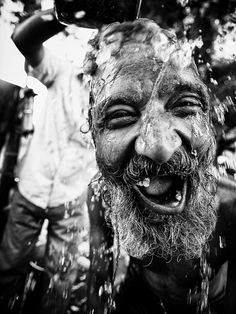 Hahaha man taking a  bath (great smile, smiling, portrait, people, photo, picture, photography, laugh, positive, inspiring, motivation, feel good, happy, happiness, joy, beautiful, amazing)