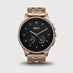 Vector Watch Luna - Roze Altın Çelik Kasa ve Çelik Kordon Akıllı Kol Saati