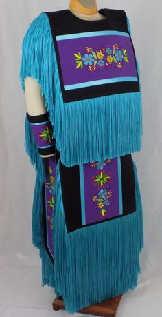 Teen Grass Dance Regalia Set Powwow Outfit SZ 16-18