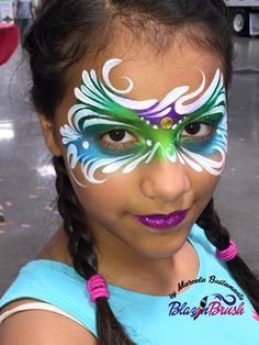 Face painting examples are very useful in the art of face painting. One of the greatest things about face painting examples, is that there are many reference Mask Face Paint, Mask Painting, Face Paint Makeup, Princess Face Painting, Adult Face Painting, Painting For Kids, Cheek Art, Make Up Art, Face Painting Designs
