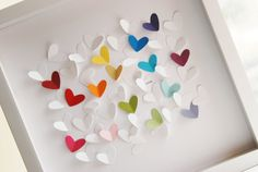 Personalized Wedding Gift - 3D  Hearts -  (Personalized wedding, anniversary, Valentine's gift)
