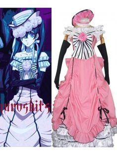 Kuroshitsuji Ciel Phantomhive Womens Dress Lolita Cosplay Outfits Costumes