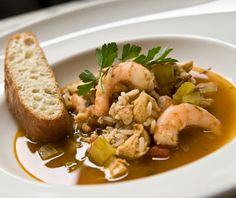 Spicy Seafood and Chicken Gumbo with Rice