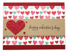 Happy Valentine's Day Card by @Crafts Direct
