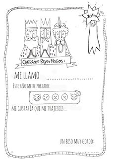 Carta Reyes Magos imprimible Three Wise Men printable letter