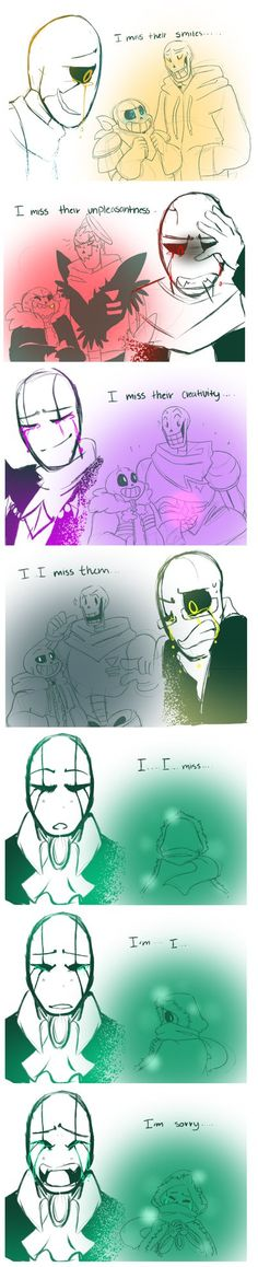 looks like even underfell!Gaster has his weak spots... there is a part two to this as well. part2:bunnymuse.deviantart.com/art/t…